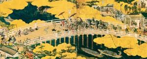 洛中洛外図屏風 舟木本 「五条大橋」