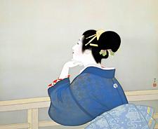 上村松園「待月」